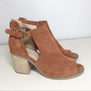 Sole/ Society Ferris Brandy cow suede heels